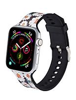 abordables -bracelet de sport pour bracelet de montre apple bande correa iwatch 42mm 44mm 38mm 40mm bracelet de bracelet en silicone montre apple 5 4 3 2 1