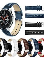 abordables -Smartwatch Band pour Samsung Galaxy 46 / Gear S3 / S3 Classic / S3 Frontier / Gear 2 R380 / 2 Neo R381 Band Mode haut de gamme Boucle en cuir confortable Bracelet en cuir véritable 22mm