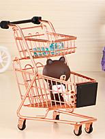 abordables -Mini supermarché roue de chariot à chariot chariots jouets créatif à deux étages pliant panier panier jouets pour enfants