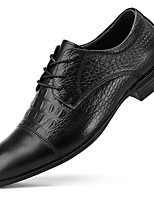 cheap -Men's Formal Shoes Nappa Leather Spring / Fall & Winter Casual / British Oxfords Non-slipping Black / Party & Evening