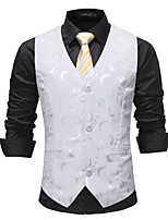 cheap -Plague Doctor Victorian Steampunk Waistcoat Paisley Coletes Men's Cotton Costume White Vintage Cosplay Party Halloween / Vest