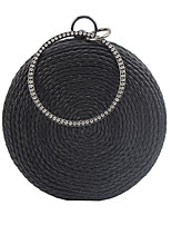 cheap -Women's Chain PU Evening Bag Solid Color Black / Champagne / Gold