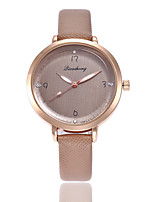 cheap -Women's Quartz Watches Casual Elegant Brown PU Leather Chinese Quartz Brown New Design Casual Watch 1 pc Analog One Year Battery Life