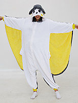 abordables -Adulte Pyjamas Kigurumi Souris Écureuil volant Combinaison de Pyjamas Molleton Blanche Cosplay Pour Homme et Femme Pyjamas Animale Dessin animé Fête / Célébration Les costumes / Collant / Combinaison