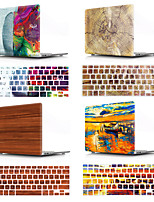 cheap -Mac Keyboard Cover & MacBook Case Wood Grain / Word / Phrase / Oil Painting Plastic for New MacBook Pro 15-inch / New MacBook Pro 13-inch / New MacBook Air 13 2018