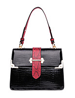 cheap -Women's Rivet / Zipper Faux Leather / PU Top Handle Bag Snakeskin Black / Brown