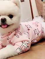 cheap -Dog Sweater Rabbit Winter Dog Clothes Pink Costume Plush Fabric Rabbit / Bunny Cosplay XS S M L XL