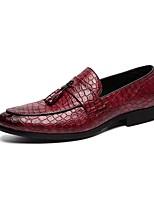 cheap -Men's Comfort Shoes Microfiber Fall & Winter Loafers & Slip-Ons Black / Brown / Burgundy