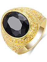 cheap -Couple's Band Ring 1pc Gold Alloy Geometric Punk Trendy Daily Jewelry Geometrical Hope Cool