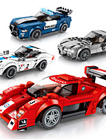 cheap -Building Blocks 8 pcs Race Car compatible Legoing Simulation Race Car All Toy Gift