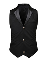 cheap -Plague Doctor Victorian Steampunk Waistcoat Paisley Coletes Men's Costume Black Vintage Cosplay Party Halloween / Vest