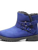 cheap -Women's Boots Low Heel Round Toe Suede Booties / Ankle Boots Fall & Winter Black / Brown / Blue