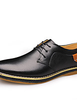 cheap -Men's Formal Shoes Leather / Cowhide Spring & Summer / Fall & Winter Business / Casual Oxfords Breathable Black / Yellow / Blue