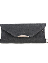 cheap -Women's Glitter / Zipper PU Evening Bag Solid Color Black / White / Gold