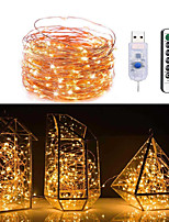 cheap -1pcs Copper Wire LED String Light 13K Remote Control USB 5M 50LED for Christmas Festival Wedding Party Garland Decor Fairy Lights