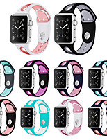 cheap -Sport Strap For Apple Watch  42mm 44mm 38mm 40mm Silicone watchband bracelet apple watch 5 4 3 2 1