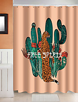 cheap -Shower Curtains with Hooks Cactus Polyester Novelty Fabric Waterproof Shower Curtain for Bathroom