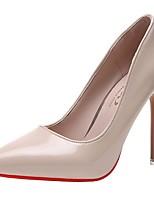 cheap -Women's Heels Stiletto Heel Pointed Toe PU Winter Black / Red / Light Grey