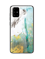 cheap -Marble Tempered Glass Phone Case For Samsung Galaxy A71 A51 A90 A80 A70 A60 A50 A40 A30 A20 A10 A20e A9 A7 2018 A8 Plus 2018 Shockproof Back Cover Soft TPU edge Protection