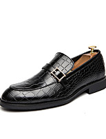 cheap -Men's Spring & Summer / Fall & Winter Casual / British Daily Party & Evening Loafers & Slip-Ons Walking Shoes Faux Leather Non-slipping Wear Proof Light Brown / Black