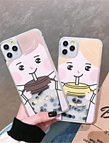 cheap -Cartoon Pearl Milk Tea Quicksand phone Case For iPhone 11 Pro X XS XR MAX 8 7 6 Plus Hard Shell Soft Edge Anti-fall Phone Case