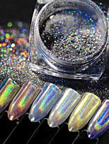 abordables -1 pcs poudre changeante de paillettes de paillettes pour ongles ongles galaxie ciel étoilé nail art manucure pédicure mode quotidienne / festival