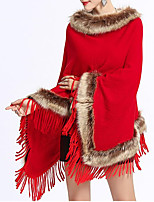 cheap -Sleeveless Faux Fur / Knit / Fox Fur Wedding / Party / Evening Women's Wrap With Tassel / Fur Capes