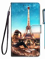 cheap -Case For Samsung Galaxy S10 / S10 Plus / S10 E Wallet / Card Holder / with Stand Girl Tower PU Leather / TPU for A10s / A20s / A50(2019) / A70(2019) / A90(2019) / Note 10 Plus / J6 Plus(2018)