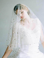 cheap -One-tier Classic Style / Lace Wedding Veil Elbow Veils with Solid / Pattern POLY / Lace