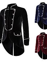 cheap -Plague Doctor Victorian Steampunk Winter Coat Men's Costume Black / Burgundy / Navy Blue Vintage Cosplay Party Halloween Long Sleeve
