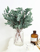 abordables -plante artificielle décoration intérieure plante verte composition florale 1 bâton