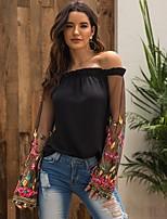 cheap -Women's Daily T-shirt - Floral Black