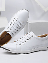 cheap -Men's Summer / Spring & Summer Casual / British Daily Outdoor Sneakers Walking Shoes PU Non-slipping Wear Proof White / Black / Red