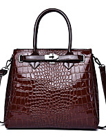 cheap -Women's Zipper Faux Leather / PU Top Handle Bag Crocodile Black / Brown / Blue