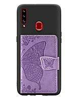 cheap -Case For Samsung Galaxy A20s(2019) / A10s(2019) / A70(2019) Card Holder / with Stand / Ultra-thin Back Cover Butterfly PU Leather / TPU Case For Samsung A50/A40/A30/A7(2018)/A6(2018) /A8(2018)
