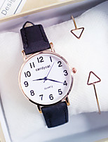 cheap -Women's Quartz Watches New Arrival Minimalist Black Brown Green PU Leather Chinese Quartz Black Blushing Pink Brown Chronograph Cute Casual Watch 2pcs Analog One Year Battery Life