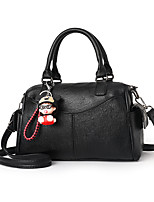 cheap -Women's Zipper Faux Leather / PU Top Handle Bag Solid Color Black / Wine / Blushing Pink