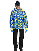 cheap -Phibee Men's Ski Jacket with Pants Skiing Camping / Hiking Winter Sports Windproof Warm Winter Sports Polyester Warm Top Warm Pants Clothing Suit Ski Wear