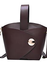 cheap -Women's Zipper PU Top Handle Bag Solid Color Black / Brown / Coffee