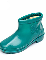 cheap -Women's Boots Low Heel Round Toe Rubber Booties / Ankle Boots Fall Green / Blue