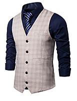 cheap -James Bond Gentleman Vintage Double Breasted Waistcoat Men's Slim Fit Costume Ink Blue / Camel / LightBlue Vintage Cosplay Party Halloween / Vest