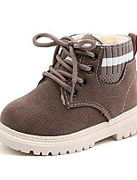 cheap -Boys' Combat Boots Synthetics Boots Little Kids(4-7ys) Black / Brown / Gray Winter / Booties / Ankle Boots