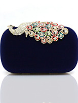cheap -Women's Chain Corduroy Evening Bag Solid Color Black / Almond / Fuchsia