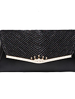 cheap -Women's Sequin / Glitter PU Evening Bag Solid Color Black / Gold / Silver