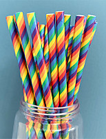 cheap -25pcs Paper rainbow straws Disposable Wedding Birthday Party Decorations Children Kids Drinking Straws Event Party Supplies