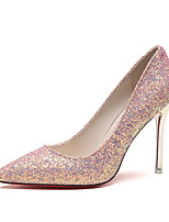 cheap -Women's Wedding Shoes Stiletto Heel Pointed Toe PU Winter Black / White / Silver