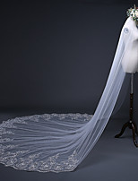 cheap -One-tier Antique / Sweet Style Wedding Veil Cathedral Veils with Paillette 157.48 in (400cm) 100% Polyester / Classic
