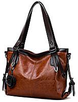 cheap -Women's Flower PU Top Handle Bag Black / Brown / Wine
