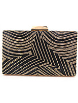 cheap -Women's Chain Alloy Evening Bag Solid Color Gold / Silver / Coffee