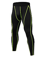 cheap -JACK CORDEE Men's Compression Pants Cycling Pants Elastane Bike Bottoms Breathable Quick Dry Sweat-wicking Sports Black / Yellow / Red Mountain Bike MTB Road Bike Cycling Clothing Apparel Form Fit